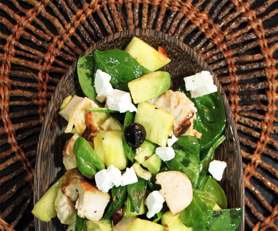 salat med kylling og ananas
